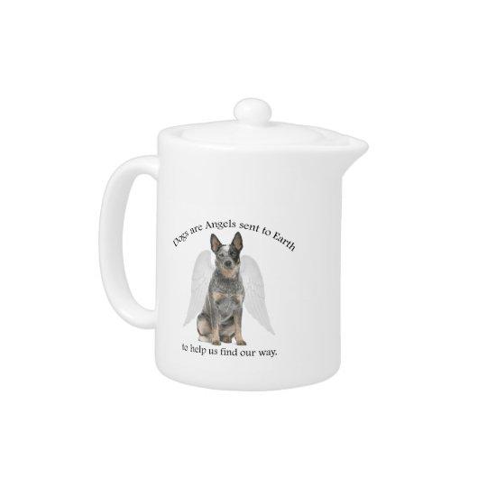 Cattle Dog Angel Teapot