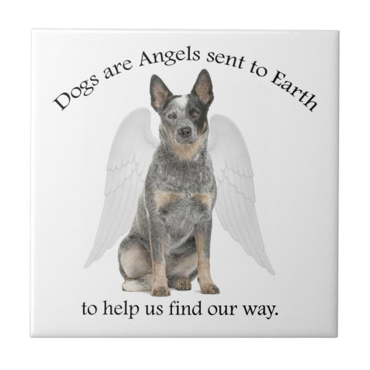 Cattle Dog Angel Tile Coaster