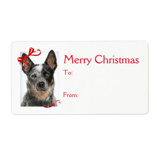 Cattle Dog Christmas Gift Stickers