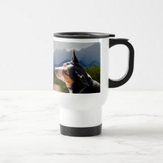 Cattle Dog in front of Elephant Head AZ mug
