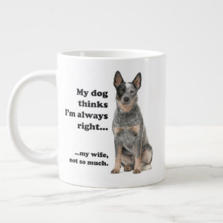 Cattle Dog v Wife Jumbo Mug