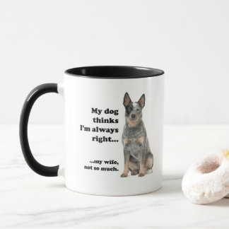 Cattle Dog v Wife Mug