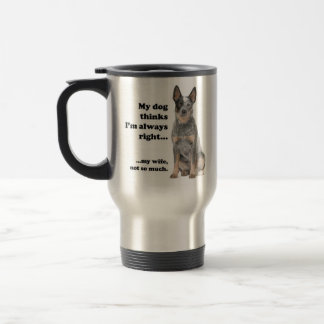 Cattle Dog v Wife Travel Mug