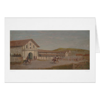 Cattle drove at Mission Dolores, Calif. (1243) Card