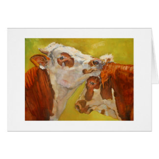 Cattle fine art card