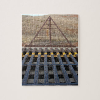 Cattle Guard across Gravel Road, Western Theme Jigsaw Puzzle