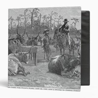 Cattle in a Kansas Corn Corral Vinyl Binder