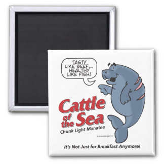 Cattle of the Sea - Max Manatee - Magnet