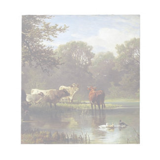 Cattle on the Pond Notepad