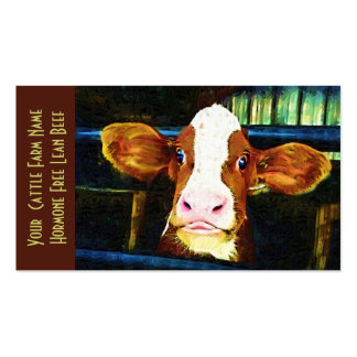 Cattle Ranch Veal Funny Cow Pack Of Standard Business Cards