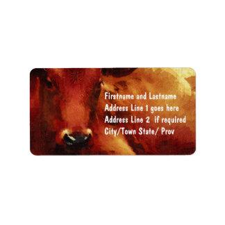 Cattle Rancher, Butcher or Beef Feedlot Label