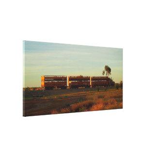 Cattle truck canvas print