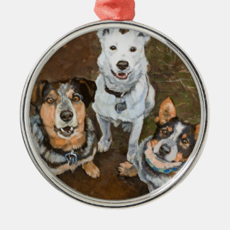 Cattledogs Cattle Dogs and Heelers Fine Art Metal Ornament