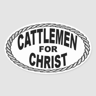 Cattlemen for Christ Euro Style Oval Sticker