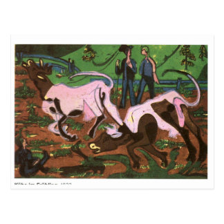 Cattles in the Spring by Ernst Ludwig Kirchner Postcard