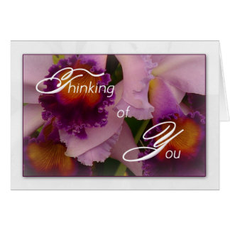 Cattleya Hybrid Orchid Thinking of You Note Card