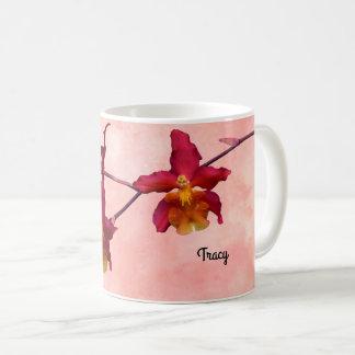 Cattleya Orchid Mug, Add your Name Coffee Mug