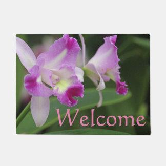 Cattleya Orchid Pink Flowers Doormat