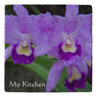 Cattleya Orchid Purple Flowers Trivet
