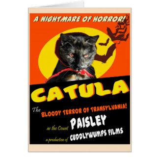 Catula Halloween Card