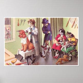 CATWALKS: Bulldog at the Barbers   Poster Art