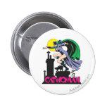 Catwoman & Logo Pink Pinback Button