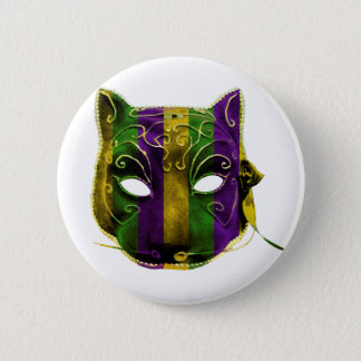 Catwoman Mardi Gras Mask 2 Inch Round Button