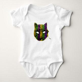 Catwoman Mardi Gras Mask Baby Bodysuit