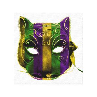 Catwoman Mardi Gras Mask Canvas Print