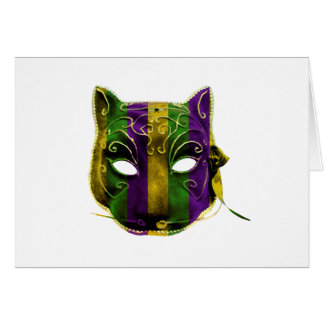 Catwoman Mardi Gras Mask Card