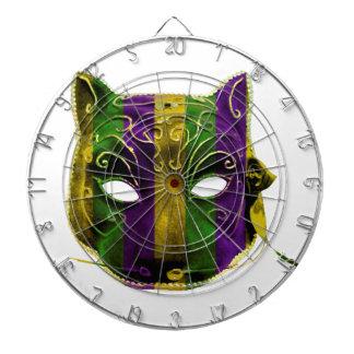 Catwoman Mardi Gras Mask Dartboard