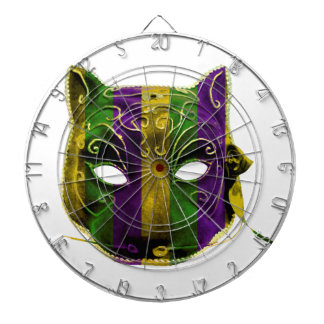 Catwoman Mardi Gras Mask Dartboard With Darts