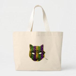 Catwoman Mardi Gras Mask Large Tote Bag