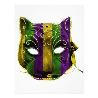 Catwoman Mardi Gras Mask Letterhead