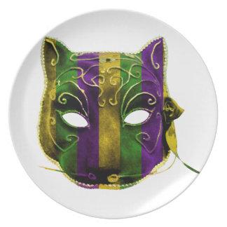 Catwoman Mardi Gras Mask Plate