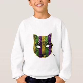 Catwoman Mardi Gras Mask Sweatshirt