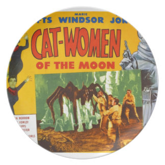 Catwomen on the Moon Plate