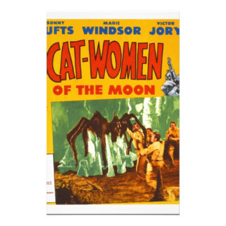 Catwomen on the Moon Stationery