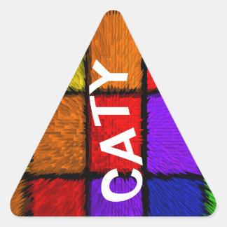 CATY TRIANGLE STICKER