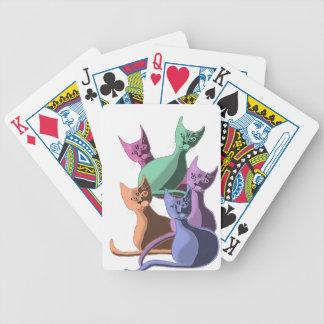 catz catz catz pastel bicycle playing cards