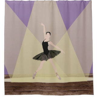 Caucasian Ballerina on Stage Shower Curtain