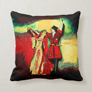 Caucasian Dancers 2 Throw Pillow