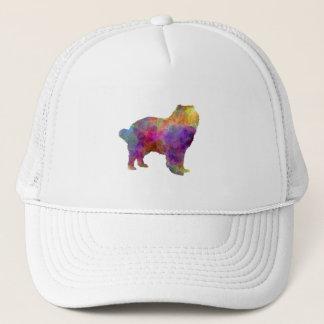 Caucasian Shepherd Dog in watercolor Trucker Hat