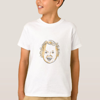 Caucasian Toddler Smiling Drawing T-Shirt
