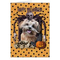 Cauchemar de Halloween - ShihPoo - Maggie Carte De Vœux