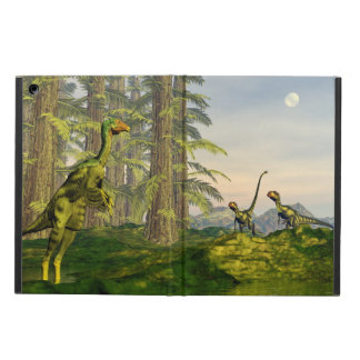 Caudipteryx and dilong dinosaurs - 3D render Cover For iPad Air