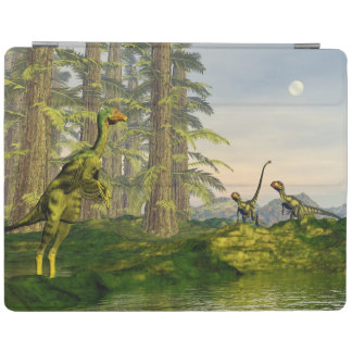 Caudipteryx and dilong dinosaurs - 3D render iPad Cover