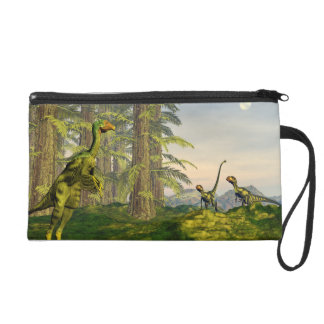 Caudipteryx and dilong dinosaurs - 3D render Wristlet