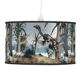 Caudipteryx dinosaur - 3D render Pendant Lamp