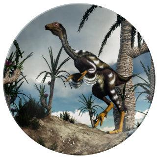 Caudipteryx dinosaur - 3D render Plate